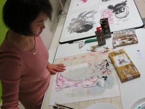 Mei Wang artiste Peintre