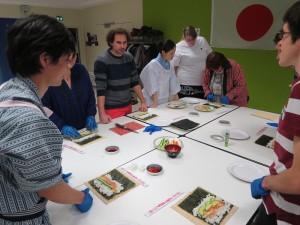 atelier sushis - réalisation de makizushis