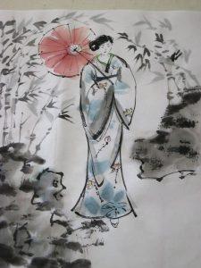 kimono peinture 2
