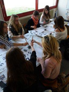 atelier calligraphie Cefoc Angers