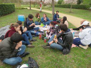 pique-nique parc Balzac Angers